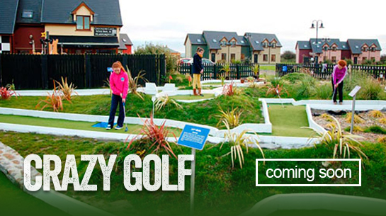 Crazy Golf coming soon button